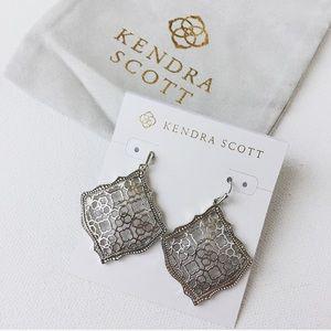 Kendra Scott Kirsten Drop Earring RHODIUM FILIGREE